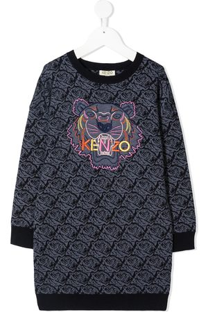 Kenzo Signature Tiger motif knitted dress
