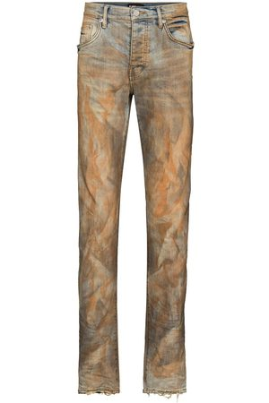 Purple Brand Two-tone faded effect jeans