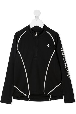 Perfect Moment Zip-up thermal long-sleeved T-shirt