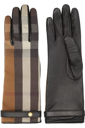 Burberry Technical check gloves