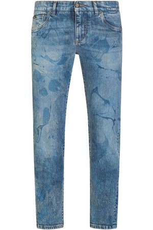 Dolce & Gabbana Men Tapered - Bleach-effect tapered jeans