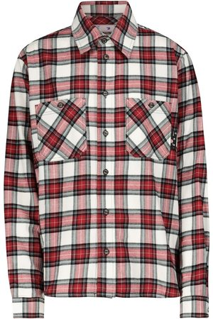 OFF-WHITE Women Long Sleeve - Checked cotton flannel shirt