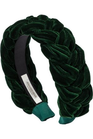 Jennifer Behr Lorelei plaited velvet headband