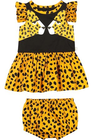 Stella McCartney Baby Printed Dresses - Baby cheetah-print cotton dress