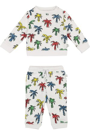 Stella McCartney Baby palm-print organic cotton sweatshirt and shorts set