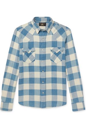 RRL Men Casual - Buffalo-Checked Cotton and Linen-Blend Flannel Shirt