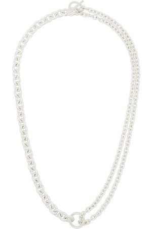 ALL BLUES Sterling chain-link necklace