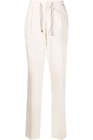Brunello Cucinelli Straight leg drawstring trousers