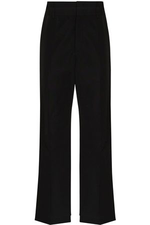 VALENTINO Logo-embroidered tailored trousers