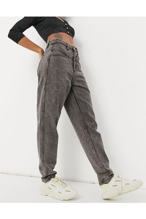 Missguided Riot mom jean in acid wash