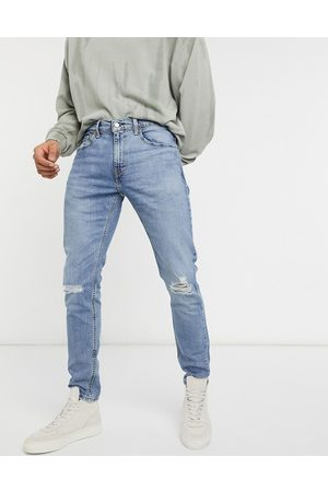 Levi's Levi's Youth 512 slim tapered lo ball distressed jeans in dolf metal advanced mid wash