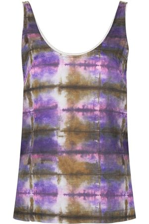 RAQUEL ALLEGRA Abstract print tank top