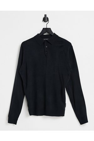 French Connection Long sleeve polo in
