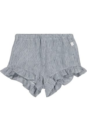 Il gufo Shorts - Baby pinstriped linen shorts
