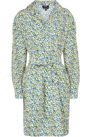A.P.C. Melissa floral silk and cotton minidress