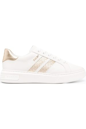 Bally Textured-stripe leather sneakers