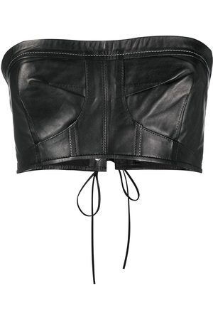Manokhi Cropped leather top