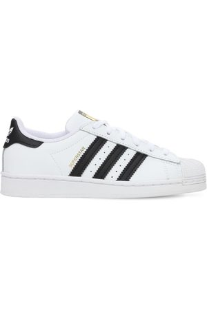 adidas Superstar Leather Lace-up Sneakers