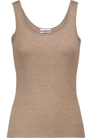 CO Ribbed-knit cashmere tank top