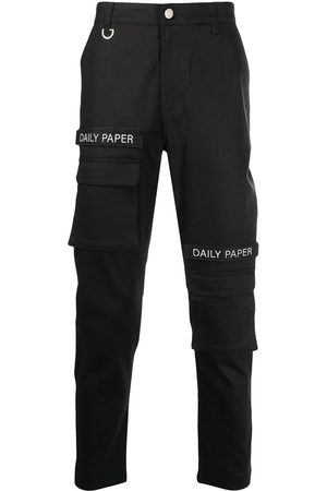 Daily paper Logo patch cargo trousers