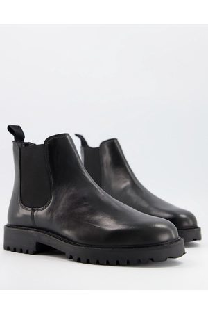 WALK LONDON Sean chunky chelsea boots in leather