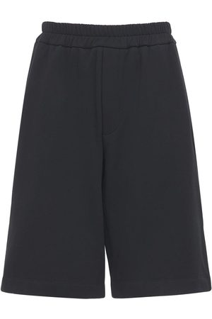 Jil Sander Plus Embroidered Organic Cotton Shorts