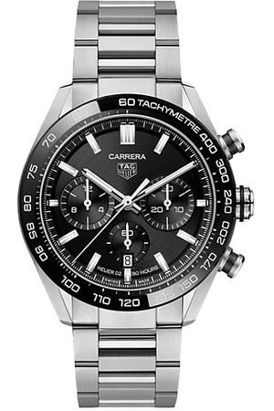 TAG Heuer Men Watches - Carrera 44MM Stainless Steel & Ceramic Bracelet Automatic Tachymeter Date Chronograph Watch