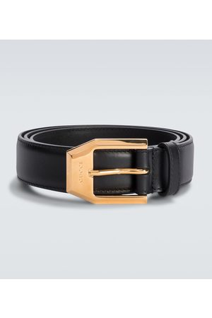 Gucci Leather belt with squared buckle