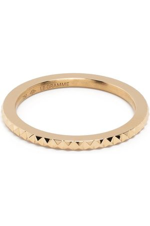 Le Gramme 18kt yellow 3g pyramid guilloche ring