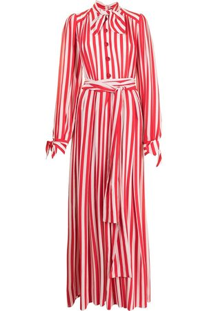 Dolce & Gabbana Women Maxi Dresses - Striped crepe-de-chine maxi dress