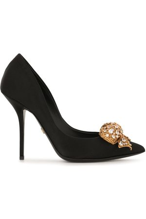 Dolce & Gabbana Bow-detail satin pumps
