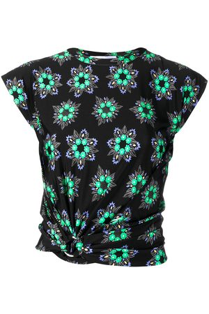 Paco rabanne Women Crop Tops - Geometric floral crop top