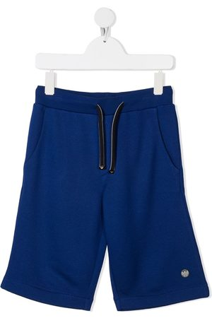 Emporio Armani Logo-patch drawstring shorts