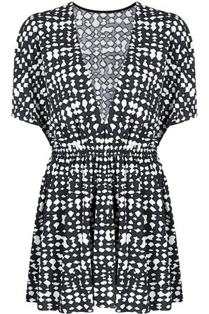 ERES Zebre abstract-print beach dress