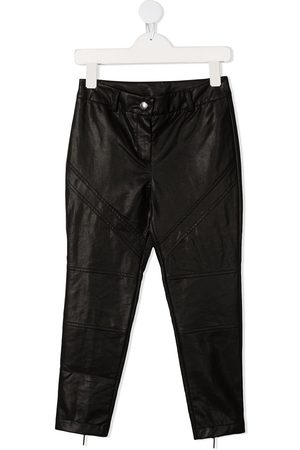 Alberta Ferretti Leather Pants - TEEN high-rise faux-leather trousers