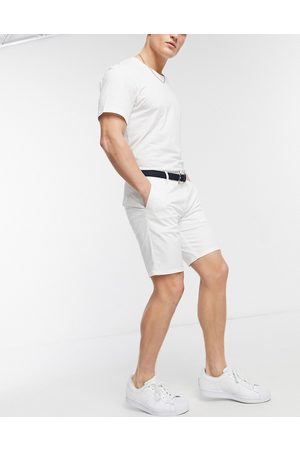 River Island Slim belted chino shorts in
