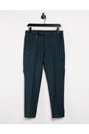 Twisted Tailor Tapered crop trousers in pinstripe