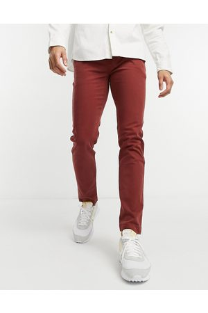 Levi's Men Chinos - Levi's xx slim fit twill chino trousers in madder