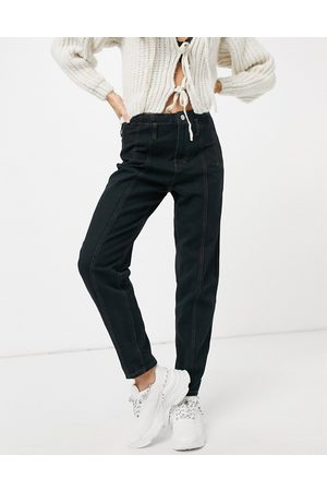 Missguided Mom jean with seam detail in