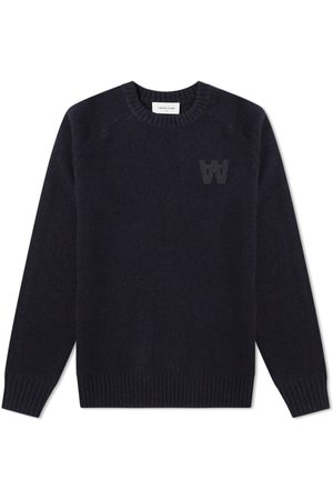 Wood Wood Kevin Crew Knit Navy