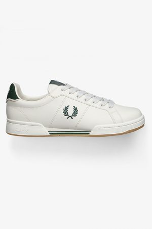 Fred Perry Authentic B722 Leather Sneaker Porcelain & Ivy