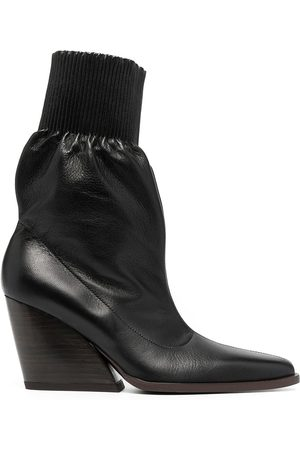 Kenzo WOMEN'S FA62BT041L6099 LEATHER ANKLE BOOTS