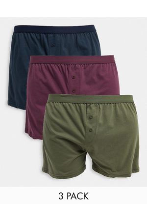 New Look 3 pack button boxers
