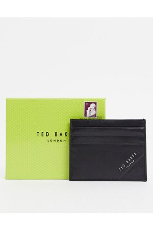 Ted Baker Rifle embossed corner leather card holder in