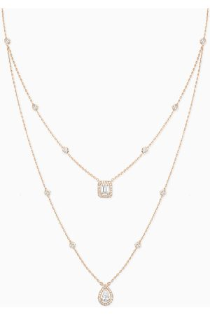 MESSIKA Women Necklaces - My Twin 2 Rows Diamond Necklace in 18kt Rose
