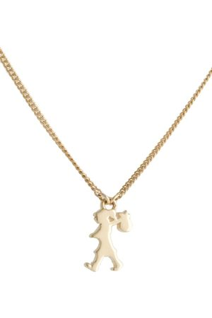 Karen Walker Mini Runaway Girl pendant necklace