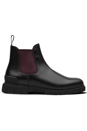 CAR SHOE Two-tone leather ankle boots