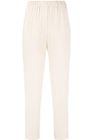 PESERICO SIGN Side slit slim-fit trousers