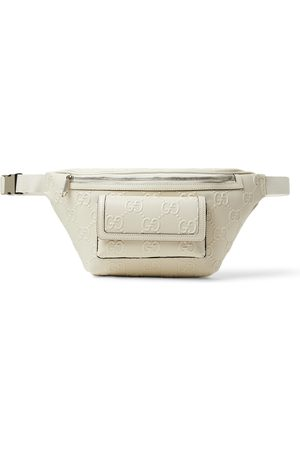 Gucci Logo-Embossed Perforated Leather Belt Bag
