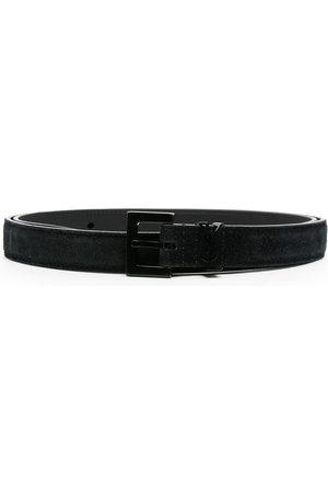 Saint Laurent Men Belts - Suede buckle belt
